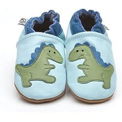 Suaves Zapatos De Cuero Del Bebé Dinosaurio 0-6 meses