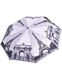 Paraguas Rainbrace-Para Viaje, Automático, Resistente al Viento, Compacto, Estampado de Diseño Original, con Transferencia de Calor de Impresión