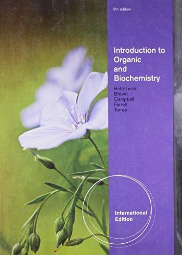 Introduction to Organic and Biochemistry. by Shawn Farrell ... [Et Al.] 10th International e edition by Farrell, Shawn O. (2011) Paperback
