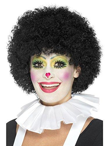 Smiffys, Unisex Clown Kragen, One Size, Weiß, (Perücke Clown Weiße)