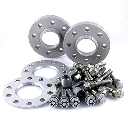 TuningHeads/H&R .0438305.DK.957161-07-15.991 ABE Spurverbreiterung, VA 14 mm/HA 30 mm + Radschrauben + Felgenschlösser
