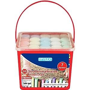 Stylex 48104Calle Tiza, 20Barras en Cubo Cuadrados, 7Colores
