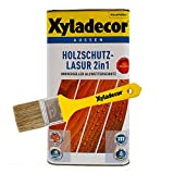 Xyladecor 2in1 Holzschutzlasur eiche hell 1,5 l inkl. Xyladecor Pinsel