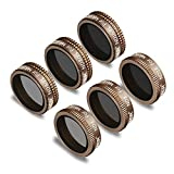 #2: Neewer 6 Pieces Pro Lens Filter Kit for DJI Mavic Air Drone Quadcopter Includes: ND4, ND8, ND16, ND4/PL, ND8/PL, ND16/PL, Made of Multi Coated Waterproof Aluminum Alloy Frame Optical Glass(Gold)