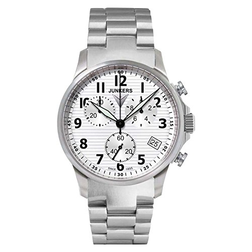 Junkers Herren Chronograph Quarz Uhr mit Edelstahl Armband 6890M1
