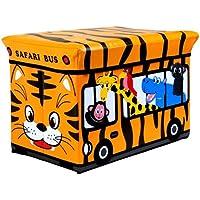 Preisvergleich für Kinder Safari Polsterhocker mit Aufbewahrungsbox Spielzeug Bücher Brust
