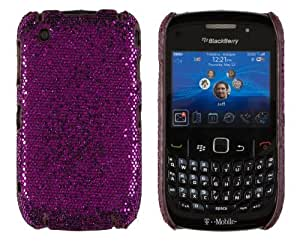 Hard Sparkles Case for BlackBerry Curve 8520 / 8530 / 9300 - Dark Purple