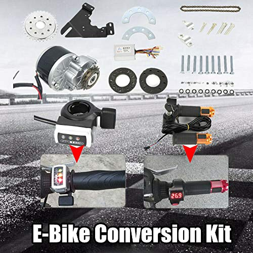 OUKANING Elektro Ebike Conversion Kit 250W 24V Elektrofahrrad Umbausatz für Fahrrad