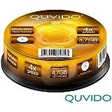 25 QUVIDO DVD-RW 120Min 4.7GB 4x in Spindel // RiTEK
