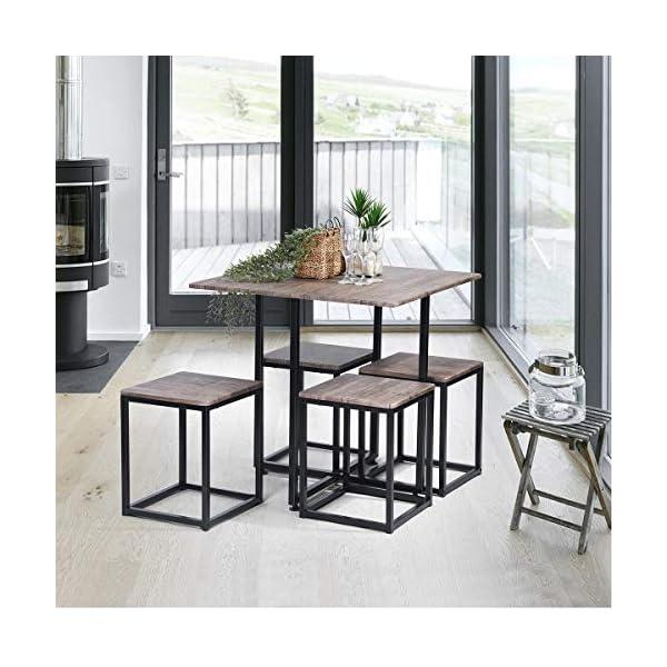 Set tavolo da pranzo, Asuuny con tavolo e 4/ sedie, tavolo da cucina ...