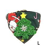 iBelly Weihnachten Hundehalsband Hund Bandanas mit Dreieckstuch Hunde Halstuch Halsbänder Haustier Dreieck Schal Haustierhalstuch Bedrucktes Verstellbar für Kleine Mittelgroße Hunde Katze