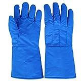 YOUjU YX Shop® Niedrige Temperatur-beständige Handschuhe, Anti-Liquid Stickstofffrostschutzhandschuhe Experimentieren LNG Kühllager-Trockeneis-warme Handschuhe (Farbe : 38cm)