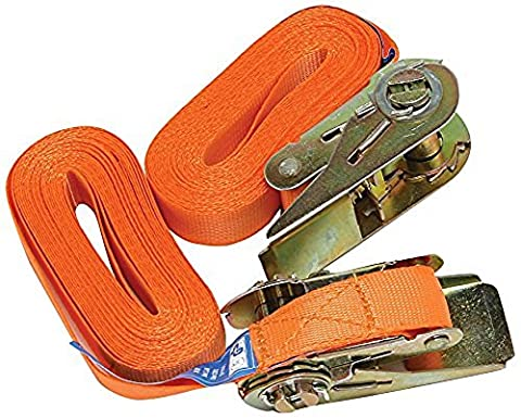 XtremeAuto® 2 x 15' Ratchet Straps Set for Motorbike, Scrambler, MTB, Trailer