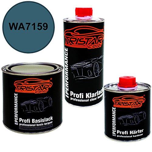Preisvergleich Produktbild 1,25 Liter 2K Lack Set BUICK / CADILLAC / CHEVROLET / CORVETTE WA7159 SMOKEY MOUNTAIN BLUE 1985 - 2009 - Profi Autolack spritzfertig & Klarlack & Härter