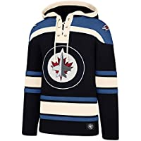 '47 Brand Winnipeg Jets Lacer Jersey Hoodie NHL Sweatshirt