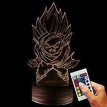 Dragon Ball Deko lámpara son Goku Attack You (3d de discapacitados Illusion)