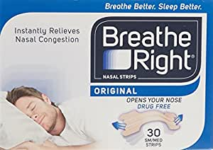 Breathe Right Nasal Srips, Large - Natural (30 Pack)