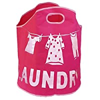 JVL Fabric Laundry Bag Polyester Stitched Logo with Integrated Handles