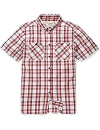 Edmond camiseta de manga corta para hombre - ladrillo rojo, medio