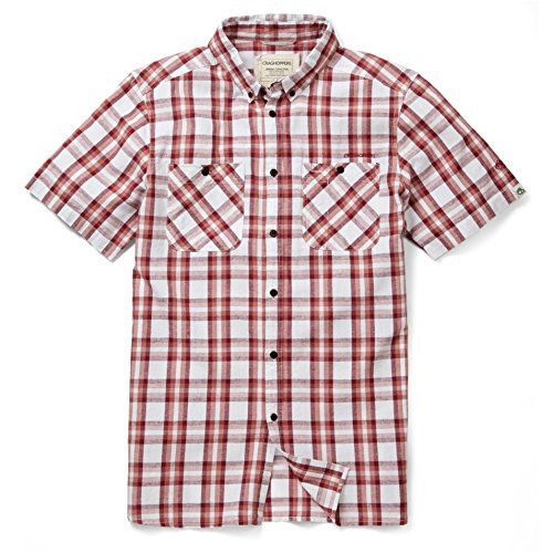 Craghoppers Outdoor Voyage Edmond Chemise manches courtes Brick Red Check