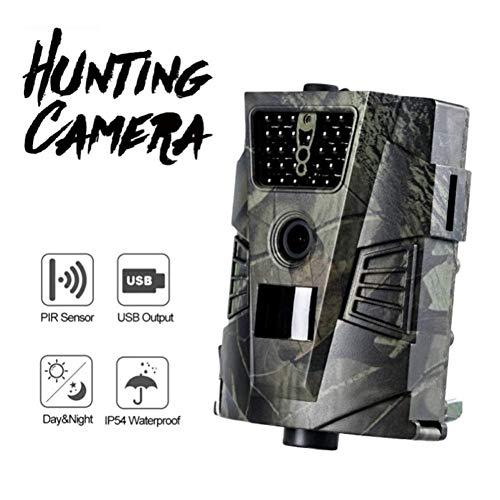 JIANPING Wildkamera 1080P 12MP Wild Hunting Action Aktiviert Die Nachtsicht IP54, Wasserdicht Für Die Überwachung Von Wildtieren Im Freien Und Die Sicherheit Zu Hause (Immobilien Stehen)