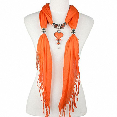 New Product Fashion Jewelry scarfs necklace for women Diy Jewelry Tassel style resin charms pendant scarves Neckerchief