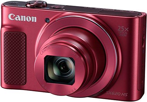 Canon PowerShot SX620 HS Digitalkamera (20,2 Megapixel, 25-fach optischer Zoom, 50-fach ZoomPlus, 7,5cm (3 Zoll) Display, opt Bildstabilisator, WLAN, NFC) rot