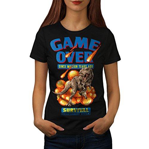 wellcoda Spiel über Dinosaurier Frau XL T-Shirt