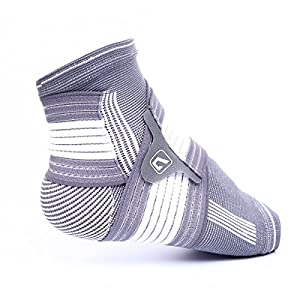 Ankle Support Brace Liveup SPORTS Foot Support with Elastic Arch Support Straps for Running, Basketball, Walking, Jogging and Protects Against Plantar Fasciitis, Achilles Tendonitis and Heel Spurs -Both for Women and Men