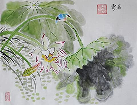 Oridental Artwork Unframed Hand Painted Art Chinese Brush Ink and