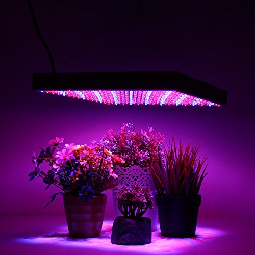 Amzdeal Red Blue 225 LED Hydroponic Plant Grow Light Lamp Panel Test