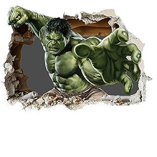 Avengers Wall Smash Wall sticker Marvel Vinyl wall art 2 SIZES for cars bikes caravans homes Customise4U™ (700mm, new 3d hulk smash)