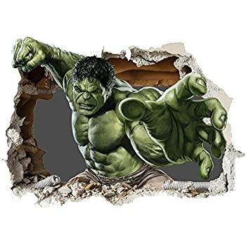 Roommates the hulk giant repositionable marvel wall for Avengers wall mural amazon