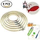 6pcs Stickrahmen, Holz Runde Nähmaschine Stickerei Ring Cross Stitch Hoop 10/13/17/20/23/26cm