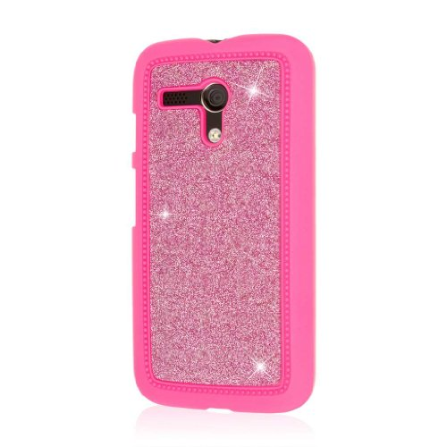 empire-glitz-slim-fit-case-for-motorola-moto-g-1st-generation-dotted-glitter-glam-hot-pink