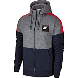 Nike Sportswear Air Full Zip Fleece Hoodie Hoody, Men, Sportswear Hoodie Air Full-zip Fleece, Carbon Heatherunive