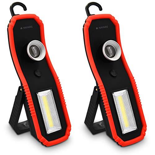 Navaris 2X Lámpara LED portátil inspección - Linterna