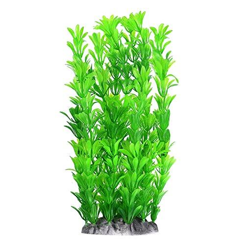 Mudder Plantas Artificial de Tanque de Pez Decoración de Acuario de 10 Pulgadas, Verde