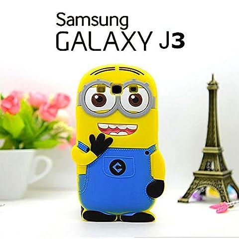 Housse de couverture de silicone Minions Coque Etui 3D Skin Cover Samsung Galaxy J3
