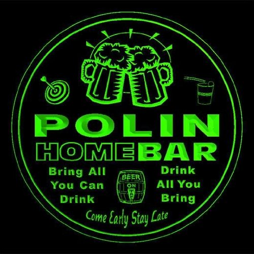 4x-ccq35526-g-polin-family-name-home-bar-pub-beer-club-gift-3d-coasters