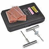 Yaheetech Reifen-Reparatur-Set 36tlg Flicken Satz Auto Reifen Pannenset Flickzeug Werkzeug Koffer