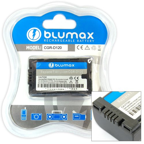 Blumax Li-Ion Ersatzakku für Panasonic CGR-D08S / D120 (1300 mAh)