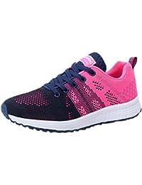 Zapatillas de Deporte para Mujer Otoño 2018 PAOLIAN Zapatos de Cordones Plano Dama Casual Deportivo Cómodo