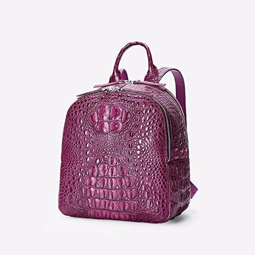 lpkone-Motif Crocodile sac à dos sac à dos d'affaires décontractée Purple