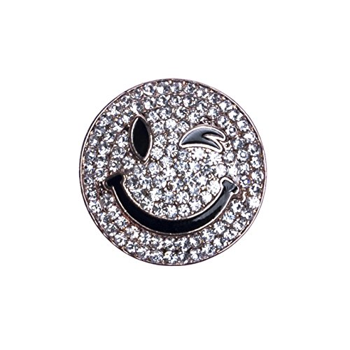 StarAppeal Magnet Schmuck Anhänger Smiley Gold mit Strass für Kleidung, Schals, Tücher und Ponchos, Brosche, Damen Accessoires Smiley (Gold)