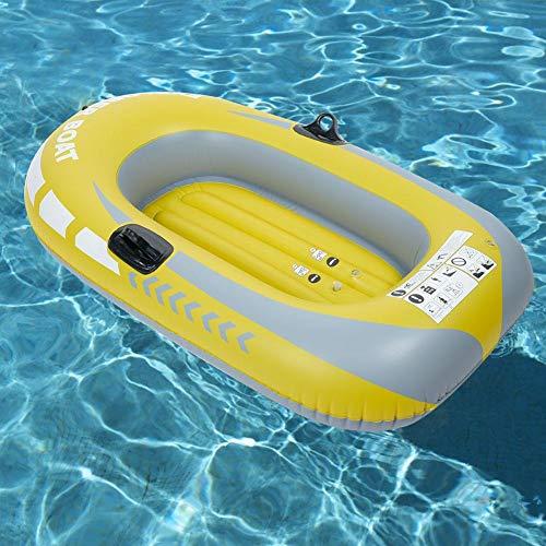 Cocoarm Schlauchboot Gelbes PVC Aufblasbar Boot Aufblasbarer Kajak für Eine Personen Sportboot Angelboot Tauchwerkzeug