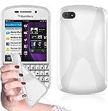 Cadorabo - Custodia silicone TPU X-Line Design per Blackberry Q10 - Case Cover Involucro Bumper Astuccio in SEMI-TRANSPARENTE