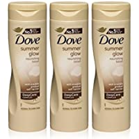 3x Dove Summer Glow Body Lotion for Normal to Dark
