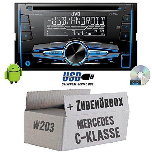 Mercedes C-Klasse W203 - JVC KW-R520E - 2DIN Autoradio Radio - Einbauset