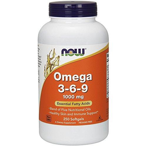 Now Foods I Omega 3-6-9 I Essenzielle Fettsäuren 1000mg I 250 Kapseln